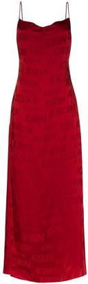 Kirin Logo-Print Maxi Dress