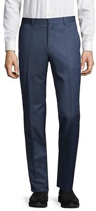 HUGO BOSS Wool-Blend Flat-Front Pants