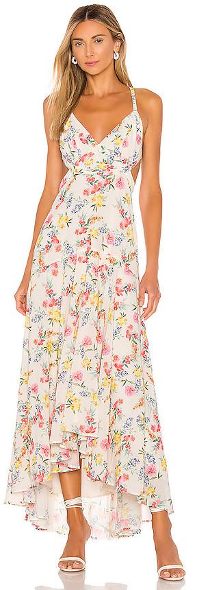 Yumi Kim Open Back Lace Up Maxi Dress