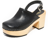 Swedish Hasbeens Jill Plateau Clogs
