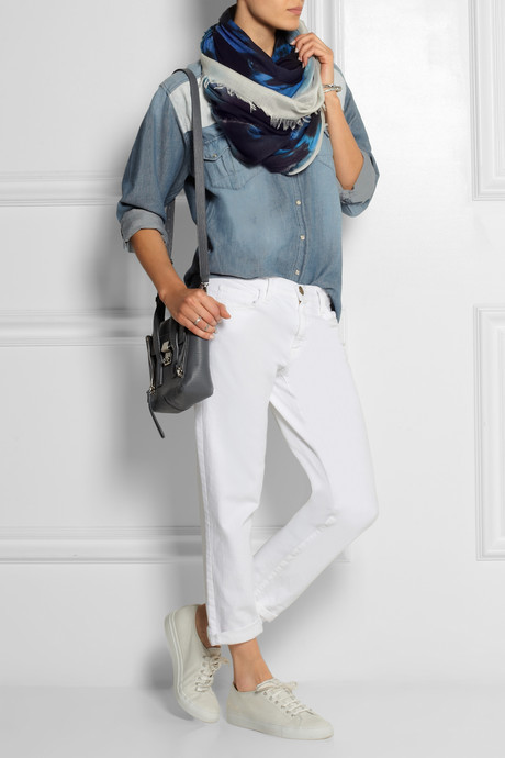 Stella McCartney Tie-dyed modal and silk-blend scarf