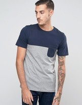 Jack and Jones T-Shirt With Color Blocking And Pocket