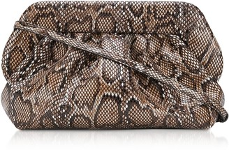 Themoirè Themoire Dark Python Printed Eco Leather Pouch Bag