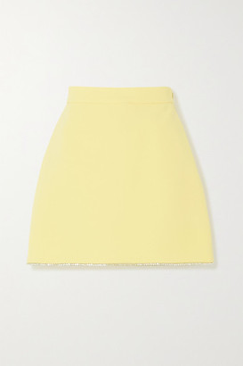 Miu Miu Crystal-embellished Cady Mini Skirt - Yellow