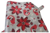 The Gift Wrap Company Poinsettia Metalized Premium Gift Wrap Paper, 2 Rolls