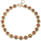 ABS by Allen Schwartz Gold-Tone Multicolor Stone Collar Necklace
