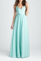 Allure Bridals Satin Chiffon Bridesmaid Dress