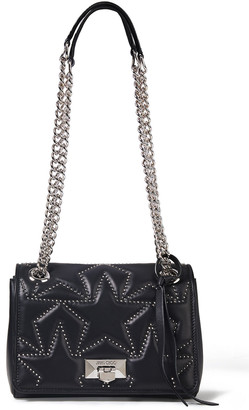 Jimmy Choo Helia Studded Matelasse Leather Shoulder Bag