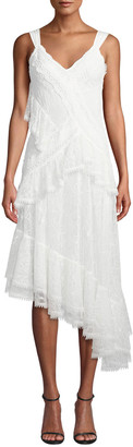 Alexis Augustine Embroidered High-Low Dress