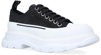 Alexander McQueen Glitter Tread Slick Sneakers