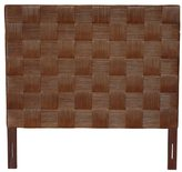 Jeffan Meticulously Woven Brown Geometric Square Queen Headboard