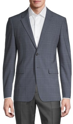 Theory Hudson Standard-Fit Plaid Jacket
