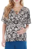 Everly Grey Women's 'Ophelia' Print Maternity/nursing Top
