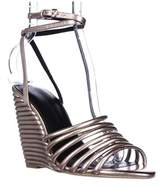Rebecca Minkoff Savannah Strappy Ankle Wedge Sandals, Rose Gold.