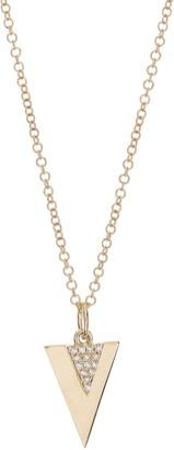 Ron Hami 14K Yellow Gold Pave Diamond Triangle Pendant Necklace - 0.03 ctw