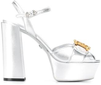 Dolce & Gabbana Applique-Detail Platform Sandals