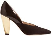 Karen Millen Collection Hammered Heel Court Shoes, Black