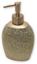 India Ink Huntington Resin and Cracked Glass Contemporary Lotion Dispenser - Champagne