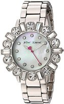 Betsey Johnson Women's Quartz Stainless Steel and Alloy Casual Watch, Color:Silver-Toned (Model: BJ00612-01)