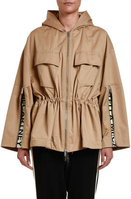 Stella McCartney Drawstring-Waist Cropped Trench Jacket