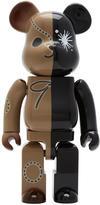 Miharayasuhiro Black Be@rbrick Edition Logo Bear Set