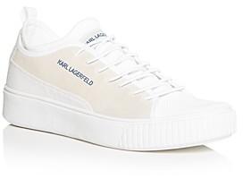Karl Lagerfeld Paris Men's Suede Low-Top Sneakers