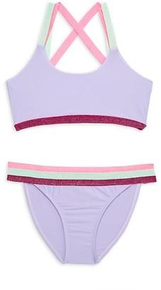 PQ Little Girl's & Girl's 2-Piece Sporty Bikini
