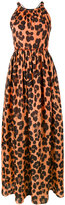 Blugirl long leopard print dress - women - Silk/Cotton - 40