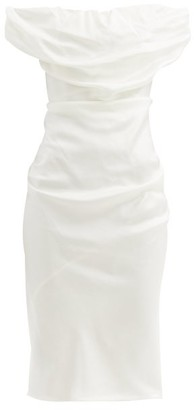 Vivienne Westwood Ginnie Draped Satin Dress - White