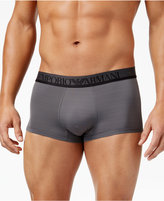 Emporio Armani Men's Striped Microfiber Trunks