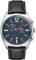 Lacoste 2010729 Men's Austin Blue Dial Black Leather Strap Chronograph Watch