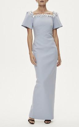 Rachel Gilbert Sandro Embellished Crepe Gown