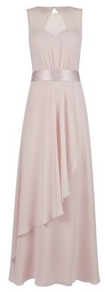 Dorothy Perkins Womens Showcase Blush 'Mirella' Sheer Panel Maxi Dress