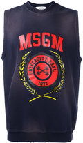 MSGM logo print vest - men - Cotton - S
