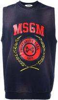 MSGM logo print vest