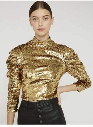 Alice + Olivia Brenna Sequin Crop Top
