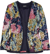 Sequined silk-blend cardigan