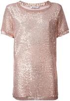 Dondup sequin embellished T-shirt - women - Polyamide/Polyester/Spandex/Elastane - XS