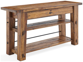 "Durango Bolton Furniture 54"" Industrial Wood Console/Media Table With 2 Shelves"