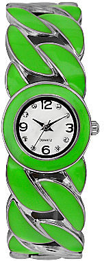 JCPenney Womens Colorful Twist Bangle Watch