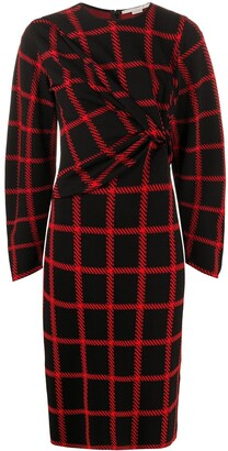 Stella McCartney Checked Ruched Dress