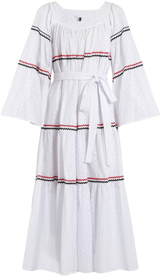 Lisa Marie Fernandez Ric-rac trimmed broderie-anglaise cotton dress