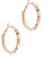 New York & Co. Beaded Hoop Earring