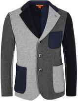 Barena Navy And Grey Cotton Blend Jacket