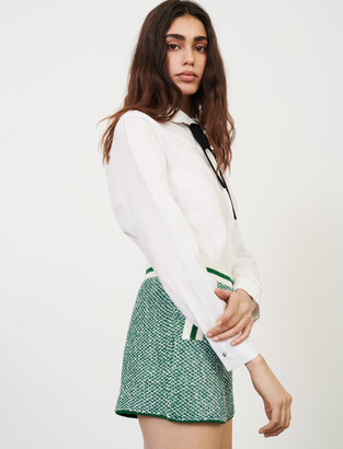 Maje Knit shorts with contrasting bands