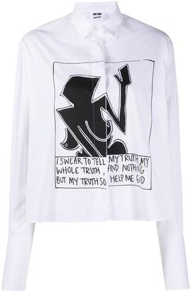 Each X Other x Austyn So Help Me God print shirt