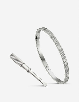 Cartier LOVE small 18ct white-gold and 0.95ct diamond bracelet