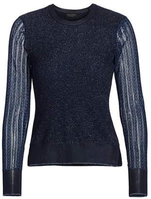 Rag & Bone Rower Metallic Merino Wool-Blend Sweater