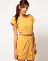 Asos Mini Tulip Dress with Flute Sleeves