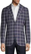 Lubiam Men's Plaid Wool Sportcoat